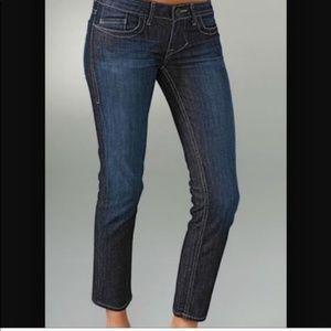 William rast Amie ultraskinny capri dark jeans 27